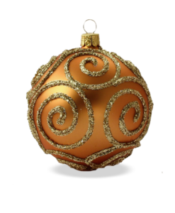 Christmas baubles baroque gold set of 6