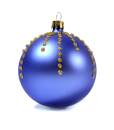Christmas baubles glitter drops blue set of 6