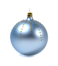 Christmas baubles glitter drops light blue set of 6