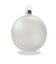 Christmas baubles translucent gloss set of 6
