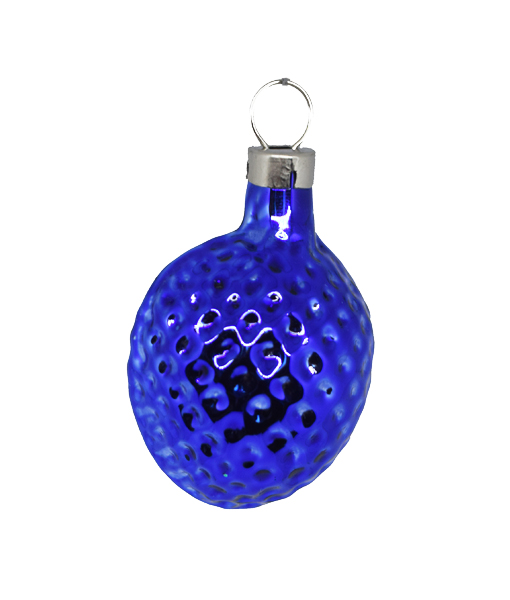 Christmas Ornament Nut Small Blue
