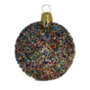 Christmas baubles with Glitter