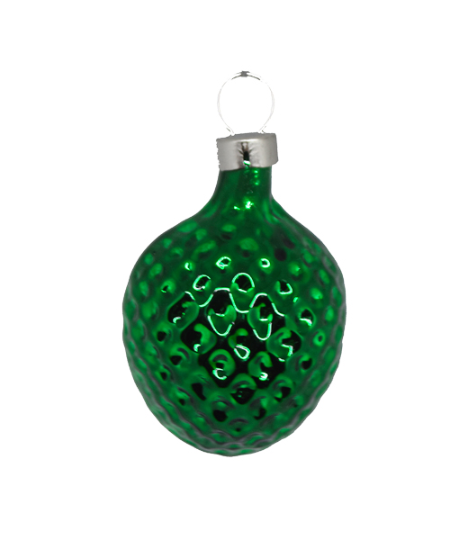 Christmas Ornament Nut Small Green