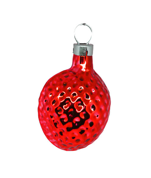Christmas Ornament Nut Small Red
