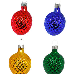 Christmas Ornament Nut Small Different Colors